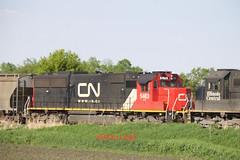 CN 5483 (eslade4) Tags: iarr iowariverrailroad ackley interchange cn canadiannational exiac exmstl excnw cn5483 sd60 l571