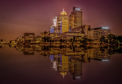 Goldrush in Amsterdam (Explored 28-5-2016) (mcalma68) Tags: longexposure water amsterdam architecture night buildings reflections amstel
