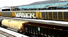 waser (timetomakethepasta) Tags: waser wholecar freight train graffiti autorack cats a2m csx