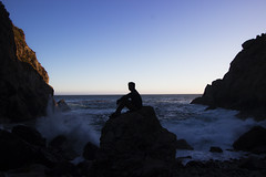 GRNT on ROCK (Alec (Rebel T3i)) Tags: ocean rock pose coast highway rocks mood power pacific cove candid pch partington oceanpower