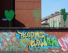 Green Hearts and Flowers (mikecogh) Tags: flowers dublin green hearts graffiti mural symbols