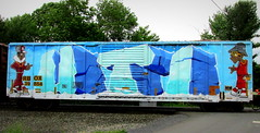 (timetomakethepasta) Tags: uti freight train graffiti wholecar boxcar art rbox rail box characters upstate new york