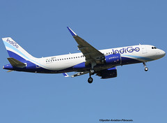 Indigo Airlines (NEO). The First Flight. (Jacques PANAS) Tags: indigo airlines neo airbus a320271nwl vtite fwwii msn6849