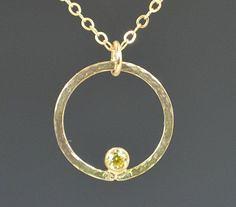 Solid 14k Gold Topaz (alaridesign) Tags: solid 14k gold topaz necklace mothers mom november birthstone by alaridesign