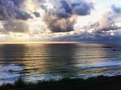 Biarritz (mrjcrr) Tags: biarritz vue view ville city landscape paysage horizon mer sea plage beach ocean sunset sun soleil sky ciel clouds nuages wave vague sudouest paysbasque france