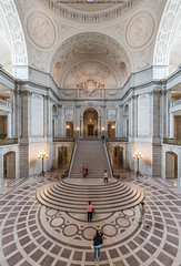 City Hall Rotunda (DSC02900) (Michael.Lee.Pics.NYC) Tags: sanfrancisco architecture stairs floor cityhall sony arches symmetry dome rotunda civiccenter voigtlanderheliar15mmf45 a7rm2