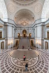 City Hall Rotunda (DSC02900) (Michael.Lee.Pics.NYC) Tags: sanfrancisco architecture stairs floor cityhall sony arches symmetry dome rotunda civiccenter voigtlanderheliar15mmf45 a7rm2