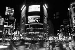 Shibuya, Tokyo (pete lok) Tags: shibuya tokyo long exposure pedestrians crossing white lines neon japan