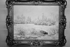 """Frost"" by Claude Monet (amanda aura) Tags: blackandwhite art film museum spain montserrat claudemonet yashicat3"