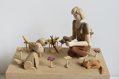 Jen, photography and terriers (Wanda Sowry) Tags: photography photograher dogs flowers terriers nature butterfly woman camera automata automaton toy mechanism cog cam wood wooden colour movement moving parts natural handle art craft present gift handmade woodwork artist