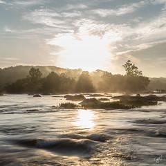 Hot James River sunrise (cpjRVA) Tags: summer humid hot ponypasture teamcanon virginia richmond landscape nature river water sunrise jamesriver jamesriverparksystem jrps va rva