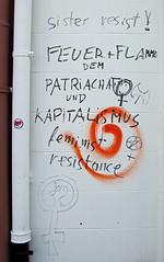 sister resist. (universaldilletant) Tags: european sister frankfurt protest feuer flamme feminist resistance resist centralbank bce ecb widerstand ezb zentralbank europische feminismus antikapitalismus patriarchat blockupy