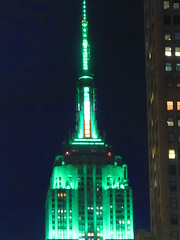 Green for St. Patrick's Day (AndrewDallos) Tags: nyc newyorkcity manhattan empirestatebuilding stpatricksday