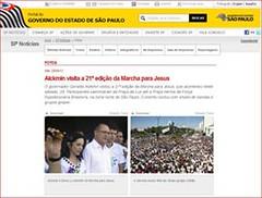 Site Governo do Estado de São Paulo