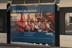 Werbung Sntis => Der Gipfel der Gensse am Thurbo => Die Regionalbahn ( SBB ) GTW RABe 2/6 526 744 - 8 mit Taufname Sntis - Express am Bahnhof St. Gallen im Kanton St. Gallen in der Schweiz (chrchr_75) Tags: chriguhurnibluemailch christoph hurni schweiz suisse switzerland svizzera suissa swiss chrchr chrchr75 chrigu chriughurni mrz 2015 chriguhurni albumbahnenderschweiz albumbahnenderschweiz201516 schweizer bahnen eisenbahn bahn train treno zug albumzzz201503mrz albumbahnthurbo thurbo regionalbahn tralin juna zoug trainen tog tren  lokomotive  locomotora lok lokomotiv locomotief locomotiva locomotive railway rautatie chemin de fer ferrovia  spoorweg  centralstation ferroviaria
