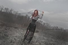 Corpse bride III (martina.spoljaric1989) Tags: woman motion girl dark veil wind lace gothic goth redhead corset expressive corsage atmospheirc
