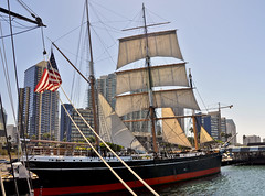 Star of India, San Diego CA (Dave & Nicole Moore) Tags: california berkeley sandiego windjammer tallship maritimemuseum californian sailingship starofindia sandiegobay harbordrive downtownsandiego sandiegoharbor hmssurprise sandiegomaritimemuseum portofsandiego maritimemuseumofsandiego