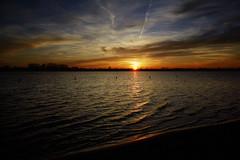 Haarrijnseplas, 7 maart 2015 (Christiaan Krouwels) Tags: holland nature netherlands zonsondergang nederland natuur zee zon haarrijnseplas