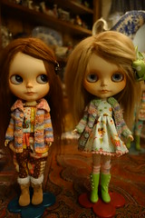 Visiting with a few of my mom's dollies...