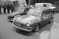 Patina'd Type 3 Variant/Squareback (Ronald_H) Tags: bw 3 classic film look car vw volkswagen rat air olympus diafine stylus epic mjuii ilford fp4 squareback variant aircooled cooled typ 2015