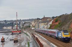 Vist Plymouth (Teignstu) Tags: railway seawall devon firstgreatwestern hst dawlish class43 fgw 43163 43144 visitplymouth