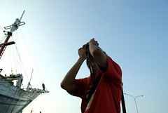 The Photographer (Johanes Tarigan) Tags: blue party sky indonesia lens for boat shoot pentax grand prix jakarta sp if aim af tamron f28 kelapa xr ld bloke sunda aspherical kapal pinisi phinisi 1750mm thrid k10d pentaxk10d