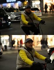 [La Mia Città][Pedala] (Urca) Tags: portrait bike bicycle italia milano ciclista mirò bicicletta 2014 7184 pedalare dittico nikondigitale ritrattostradale