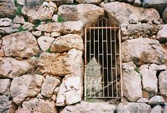 Day 96 - Mycenaean Steel (Mindori Photographic) Tags: film wall analog gate greece stonewall 365 analogue xa mycenae olympusxa ektar project365 filmisnotdead 365days kodakektar100 ektar100