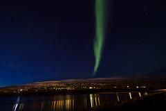Auroa Borealis (matteo.panciroli) Tags: light sky stars lights iceland nightscape aurora nightsky northern fiord borealis akureyri northiceland