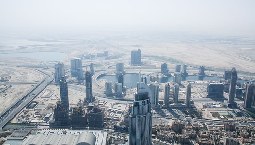Views from the Burj Kalif (world's tallest building)