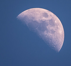 Daylight Moon (Michael Gianni Photography) Tags: light sky moon day time space craters half