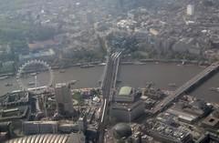 London Eye (kitmasterbloke) Tags: bridge station thames river londoneye charingcross royalfestivalhall rfh aerialphotobritain