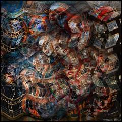 A Blustery Day for the Brillen Heads (GAPHIKER) Tags: houses windows texture amsterdam shop composite vintage canal mannequins tracks jordan heads layers eyeglasses wavy brillen hss noorderkerkstraat happyslidersunday lenabemanna donaldjongyans jongyans