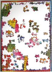 Fantastici Felini (Laurel Burch) - work in progress - 1 (Leonisha) Tags: puzzle unfinished jigsawpuzzle