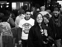 South Bend Bernie Rally (Buddy.Stephenson) Tags: blackandwhite white black blackwhite bend south rally bernie trump sanders sillyface