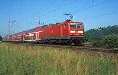 143 839  Tbingen  31.07.00 (w. + h. brutzer) Tags: analog train germany deutschland nikon dr eisenbahn railway zug trains db locomotive tbingen lokomotive 143 243 elok eisenbahnen eloks webru