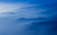 Foothills (snowyturner) Tags: blue italy mountains alps haze flight aerial layers turin