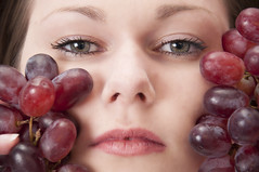 20160423_5363edit (Hatleskog photography) Tags: portrait people art girl beauty face fruit female youth photoshop studio intense eyes pretty photoshoot natural young experiment indoor lips grapes edit fruitoshoot