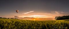 sunset dreams (klausi1983) Tags: trees light sunset sky sun colour tree green clouds sony ballon
