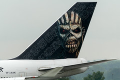 Ed in the Rain (Tangoman11) Tags: monster ed skull zombie tail special horror boeing liver ironmaiden 747 tailplane b744 edforceone tfaak bookofsoulstour