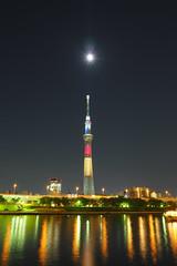 P5180463 (Zengame) Tags: tower japan architecture night pen tokyo belgium illumination landmark olympus illuminated jp   belgian zuiko  penf     skytree   tokyoskytree  mzuiko 12mmf20 mzuikodigitaled12mmf20 night