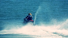 Byeeeeee....... (SteveJM2009) Tags: uk light sea sun sports speed pier seaside may wave spray dorset yamaha splash jetski bournemouth stevemaskell 2016 jetpilot explored af1107