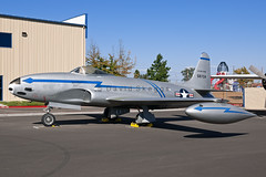 45-8704 F-80B Shooting Star - Preserved - Aerospace Museum of California, CA (David Skeggs) Tags: museum aircraft aeroplane mcclellan f80 usaf usairforce shootingstar aerospacemuseumofcalifornia davidskeggs
