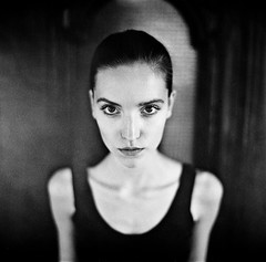 Monika (szimi82) Tags: film 6x6 portrait analog norita planar 802