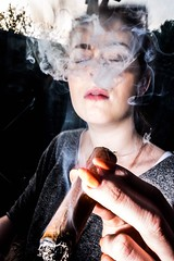 Rosie (josephbrazil1) Tags: 23mm x100t fujifilm nissin flashgun rosie smoke cigar