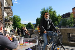 moustache (maggielovegood) Tags: bar river drink moustache slovenia ljubljana bycicle