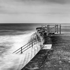 BARRIER (petefoto) Tags: sea cloud kent waves steps rail spray walkway edge barrier filters broadstairs nikond810