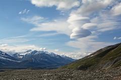 Lennies (Lee Petersen) Tags: sky cloud mountains alaska clouds hike lenticular alaskarange millercreek canwellglacier