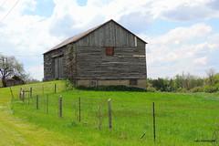 Old Barn - IN EXPLORE (Lois McNaught) Tags: ontario canada spring outdoor farm rustic hamilton scene oldbuilding oldbarn flamborough ruralbuilding