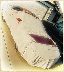 A WHITER SHADE OF PALE (akahawkeyefan) Tags: car faded cover fallingapart kingsburg davemeyer